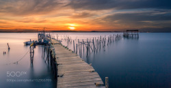 Wooden Pier at Sunset - pauloqfernandes - http://ift.tt/1OjQ0Zf