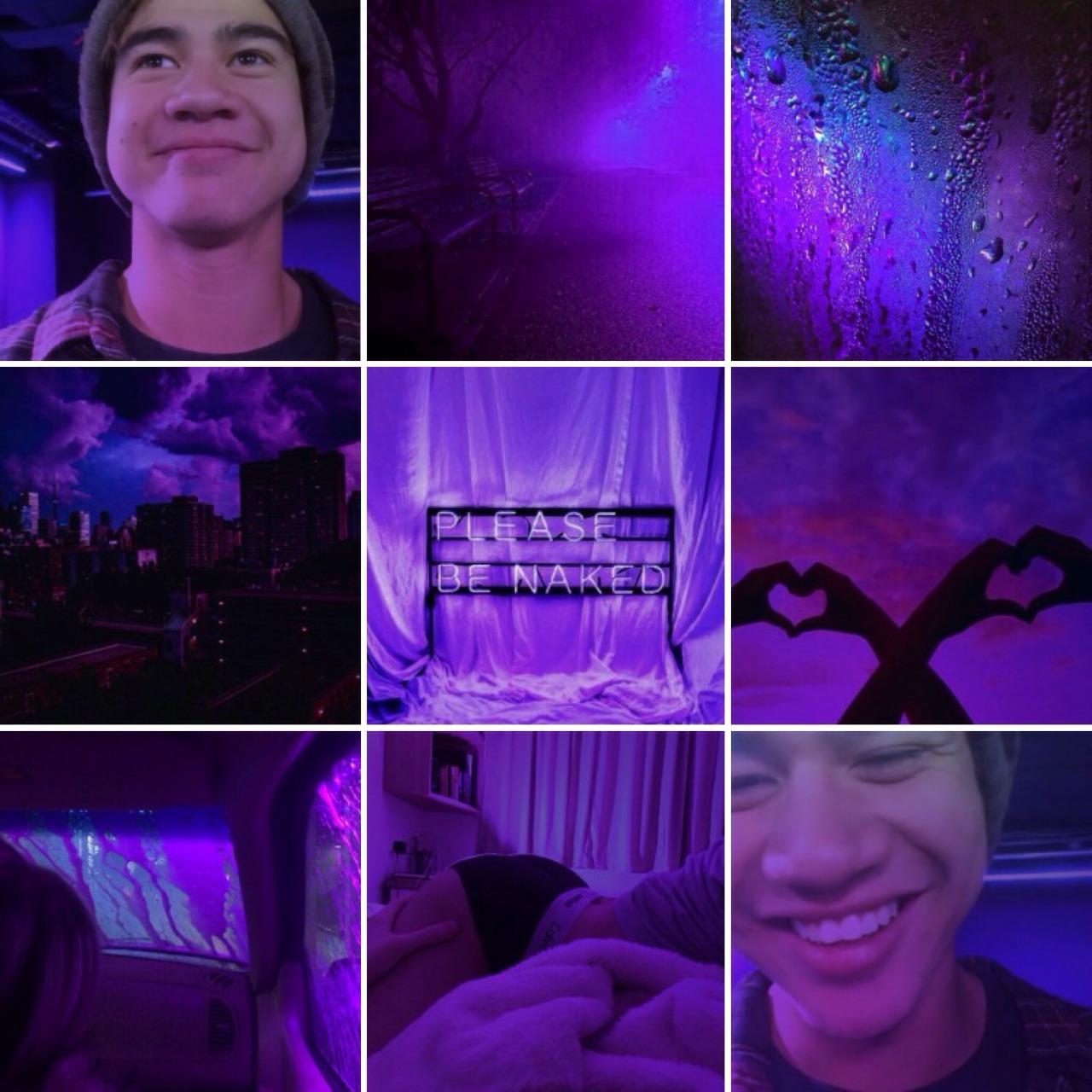aesthetic moodboards purple neon calum hood aesthetic