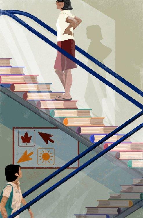 Avanza el verano: preparando nuevas lecturas para el otoño (ilustración de Eva Vázquez)