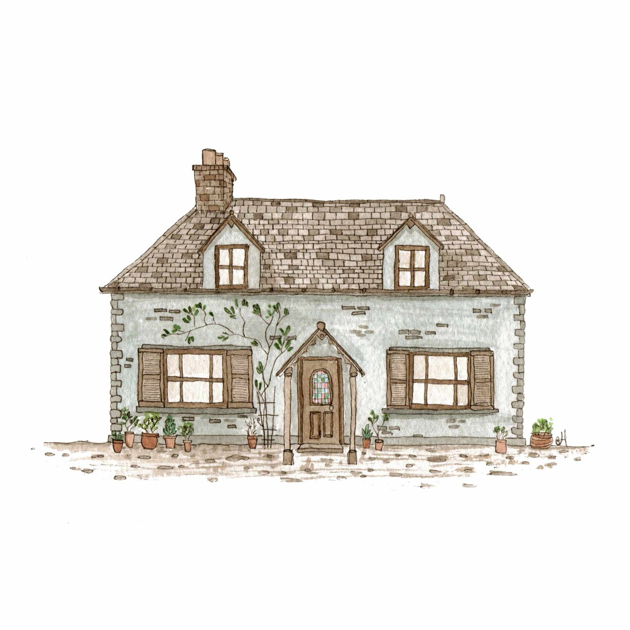 374 stained glass house Draw your house
