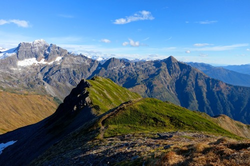 It's hard to beat a sunny day in October on Juneau's Grandchild Peaks!Photo: Bryon Powell