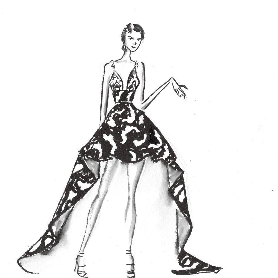 fashion model dress drawings wwwimgkidcom the image