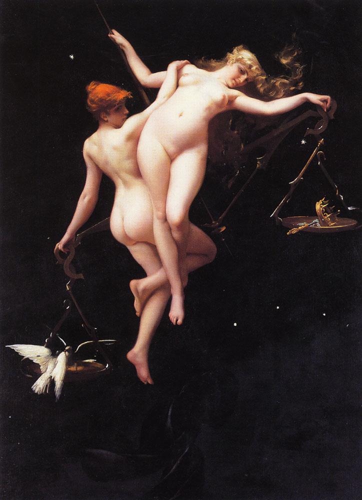 """catandgorgon: """"  Astronomical paintings by Luis Ricardo Falero (1851-1896) """""""