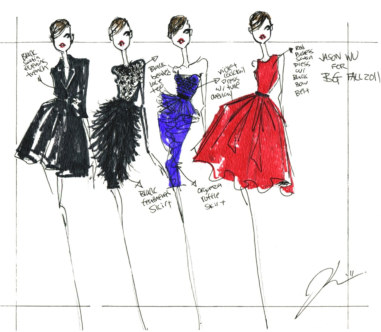 Jason wu fashion sketches jason wu s website for Jason wu fashion designer