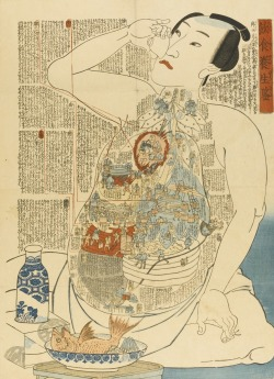 Personified internal bodily functions in Ukiyo-e. More: http://www.spoon-tamago.com/2016/08/09/illustrated-internal-bodily-functions-in-ukiyo-e-from-the-1800s/