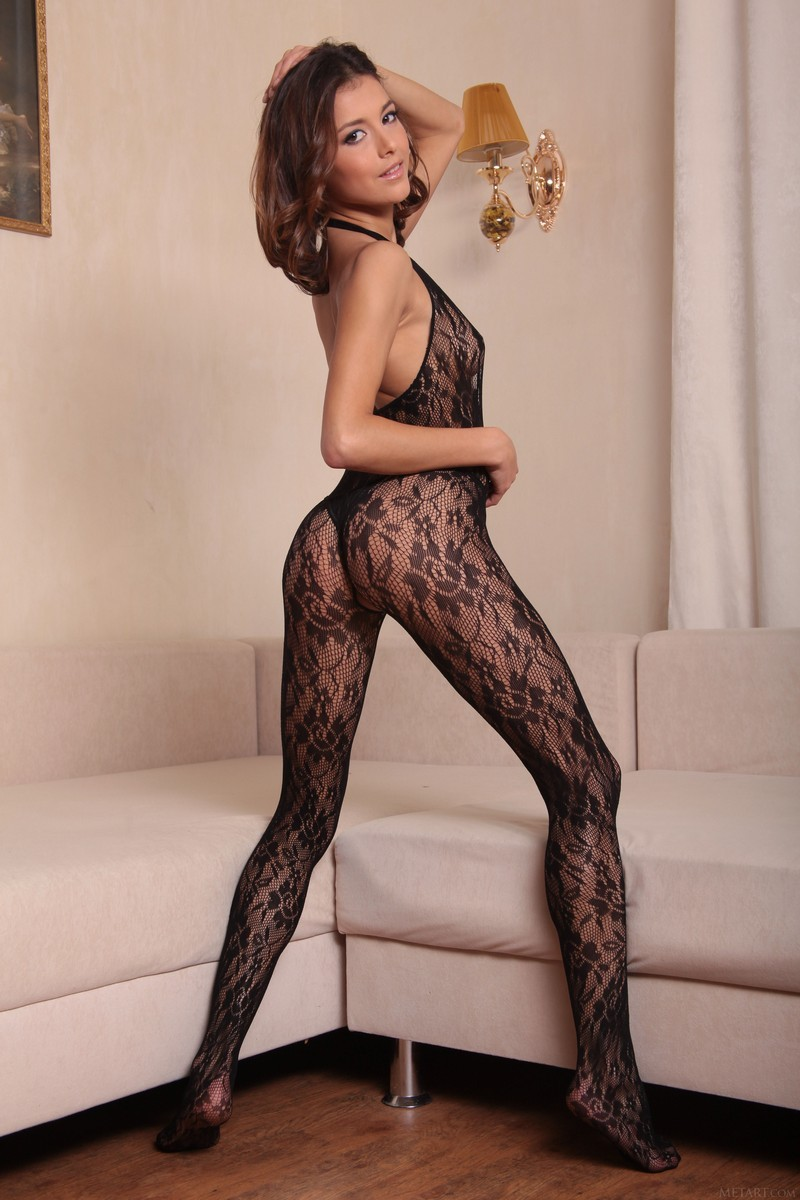 sexy mature in stocking