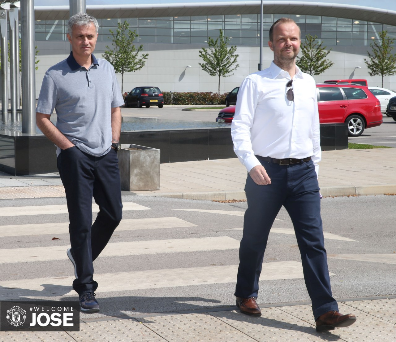 Jose Mourinho has made his first visit to the Aon Training Complex since being confirmed as the new Manchester United manager.