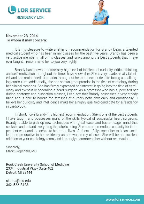 How to write an application letter for residency