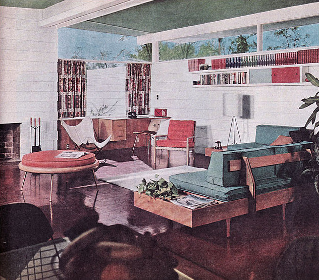 Post war vintage from the 40s 50s 60s 70s 1954 Better homes and gardens living room ideas