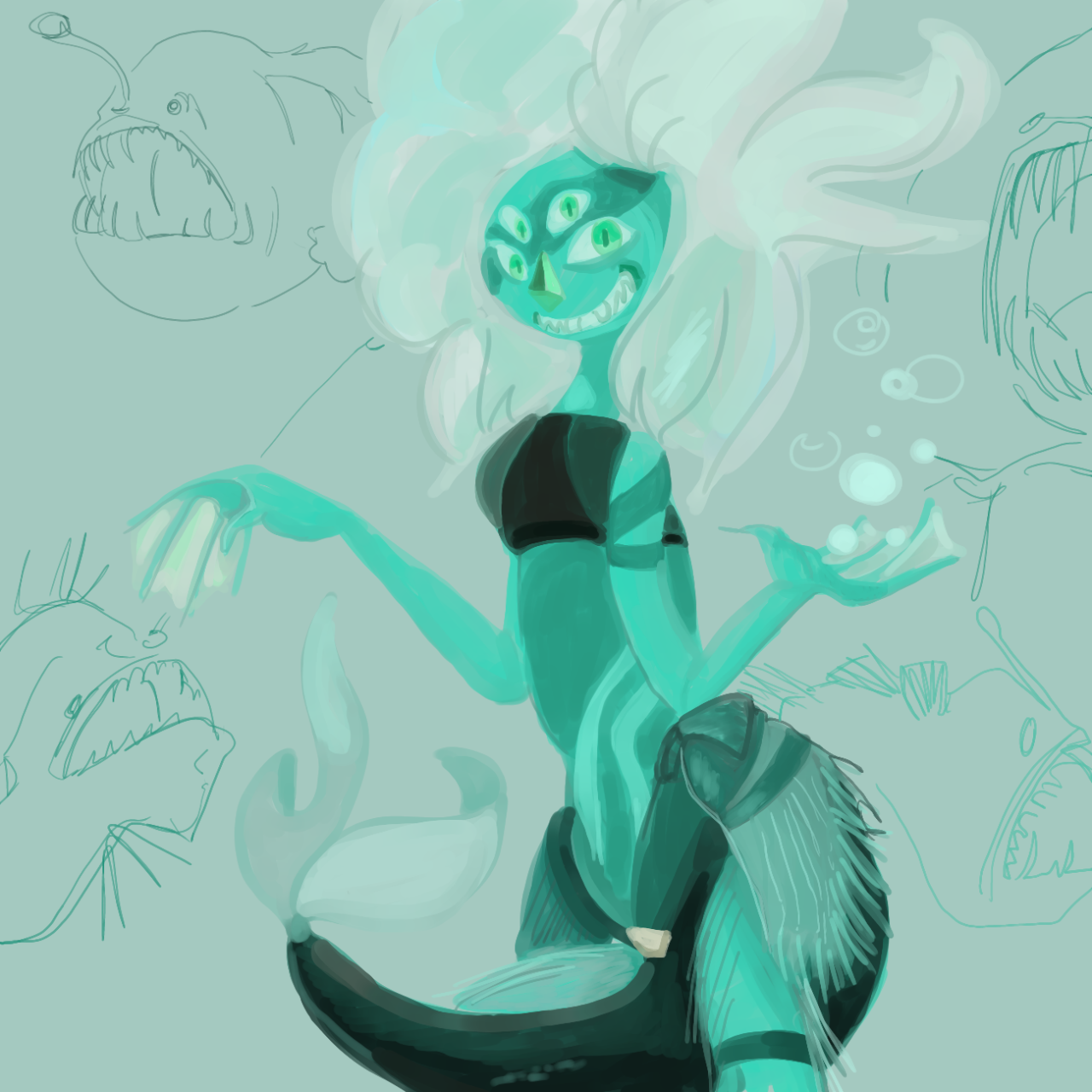 Mermaid Malachite!!