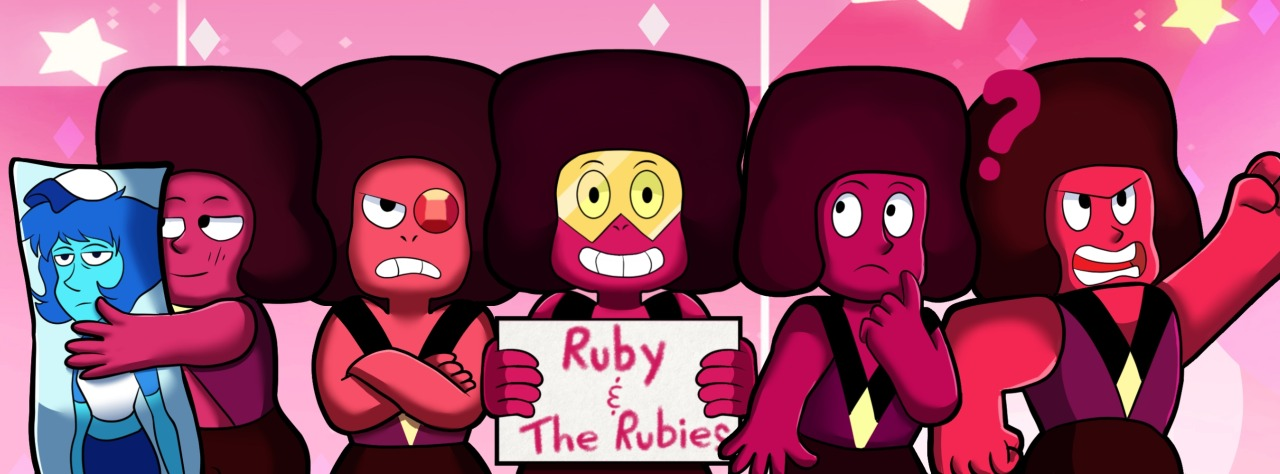 My entry for the cover art contest for the facebook page, Ruby and the Rubies! I think my favorite Ruby is Navy. She is adorable