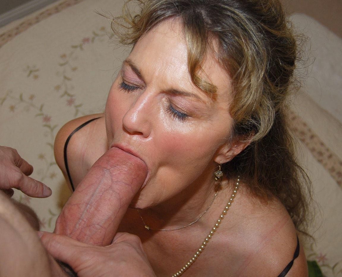 Slutty blonde milf blowjob