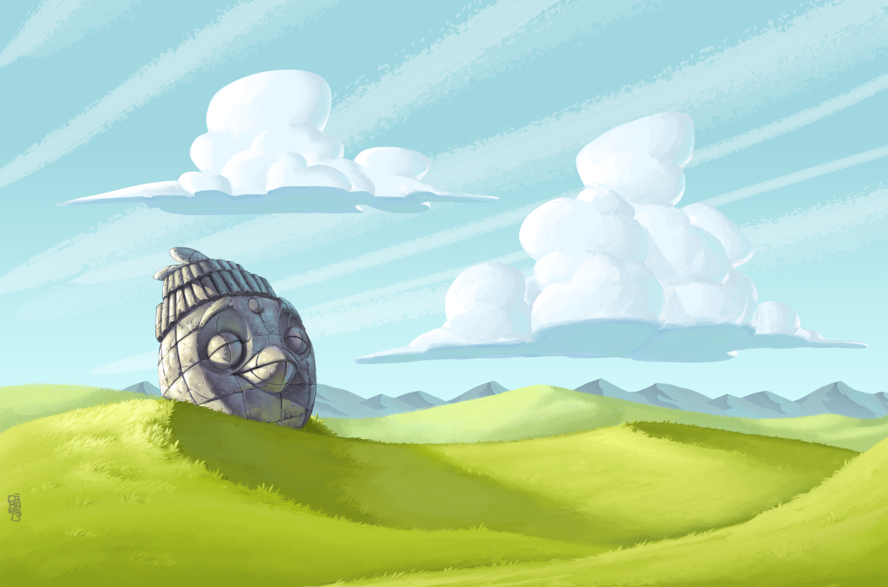 one of the backgrounds i did for angry birds star the