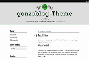 gonzoblog theme