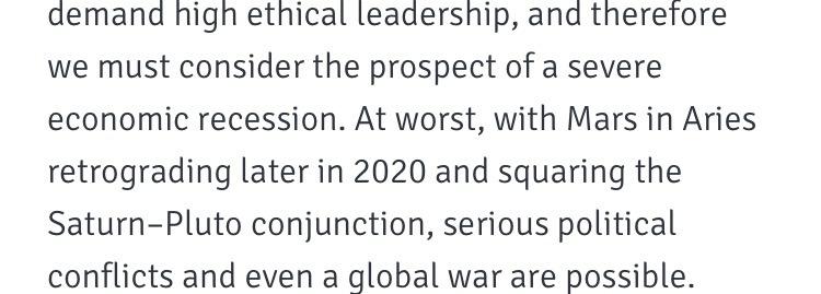 ♄ — A Predictive Look at 2020