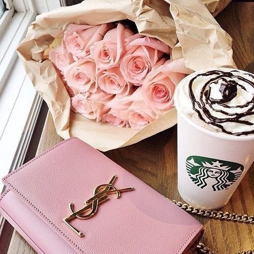 ysl yslbeauty yslbag yslclutch pink clutch clutch pink roses pink roses flowers Starbucks girly girly things girly stuf girly fashion just girly girly blog girly post