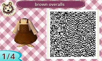 qr codes qr acnl qr acnl qr code acnl animal crossing new leaf dress brown overalls screenshots mine brown earthy tones
