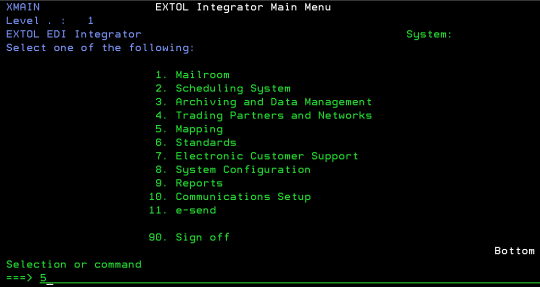 cleo extol integrator mapping menu