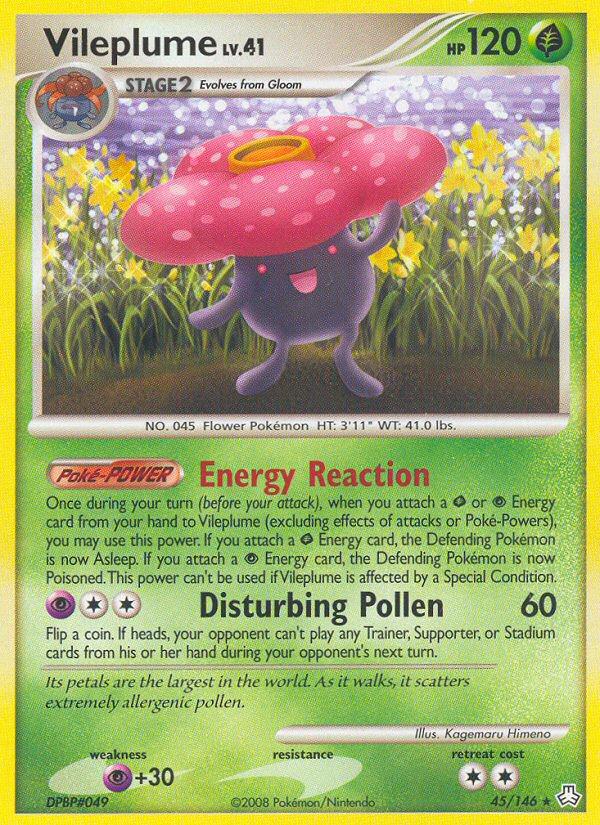 #pokemon#pokemon cards#tcg#kagemaru himeno#vileplume#legends awakened #diamond & pearl