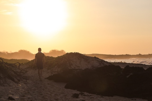 Tinder photo shoot. I like long walks on the beach