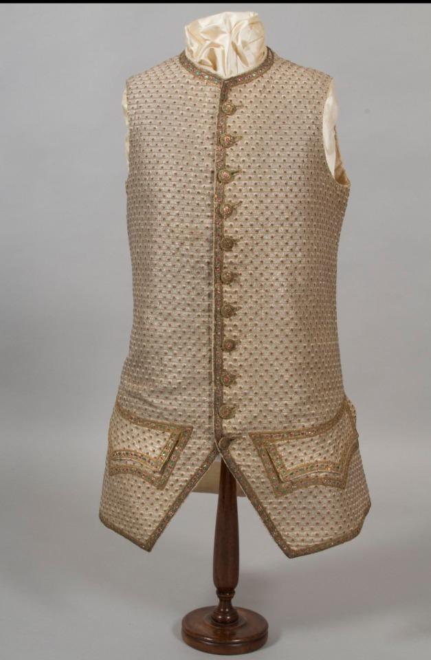 • Waistcoat. Place of  origin: England or France Date: ca. 1770 Medium: Silk