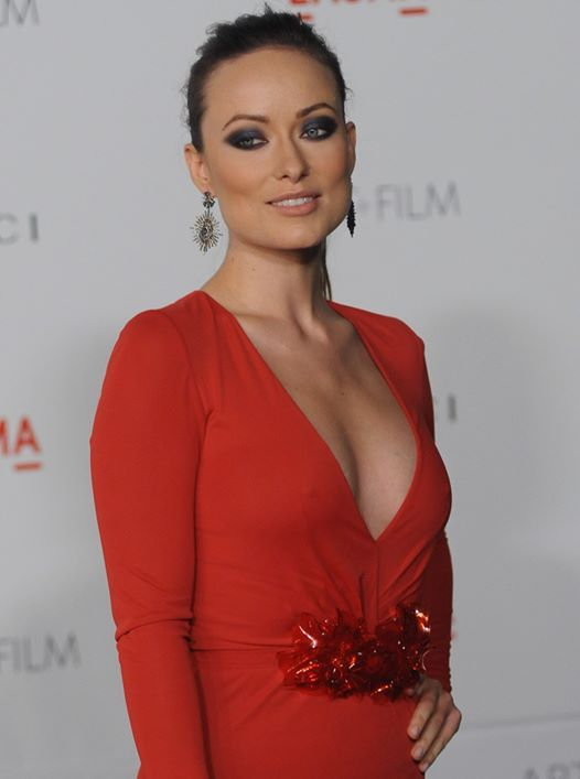 Olivia Wilde red dress