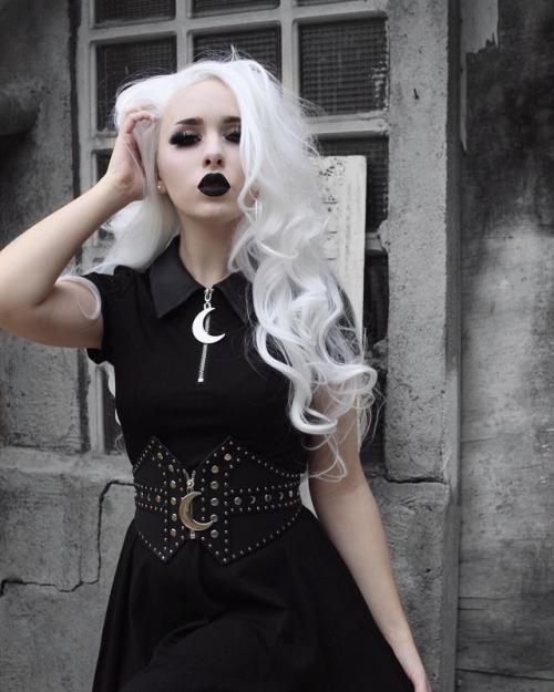 witch white hair goth goth girl gothic gothic girl gothic style