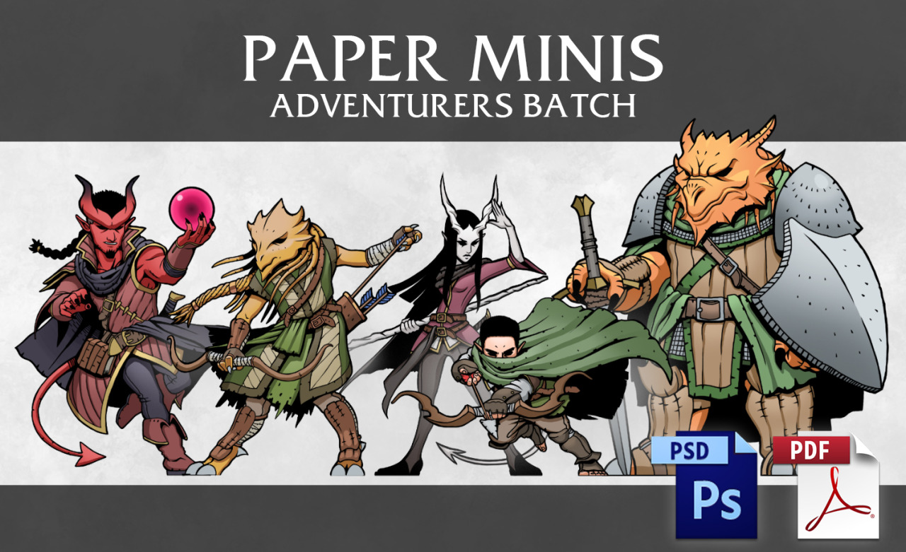 Fabian Saravia — I have FINALLY finished getting these paper minis