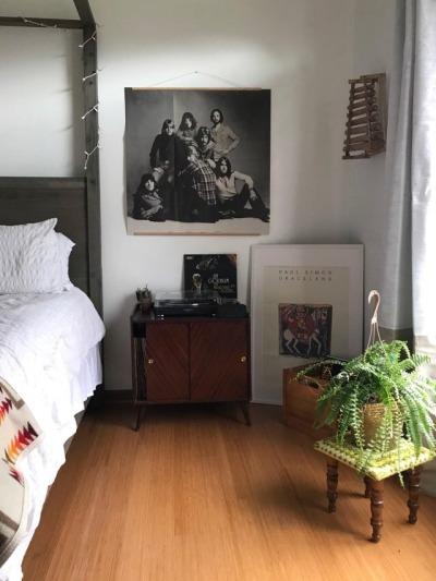 Bedroom music corner