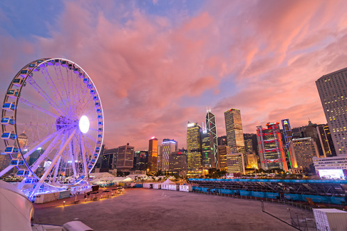 Hong Kong Hongkong China Asia City Cityscape Urban Buildings Ferris Wheel Photography Travelling Traveling Travel Tourism Holiday Urlaub Reisen