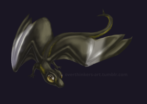 """My take on the """"dragon"""" prompt, based loosely on a Widow Skimmer dragonfly. #dragon#creature design#medibang#art#Val's art"""