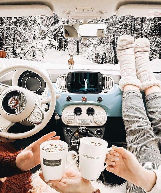 #fall#winter#autumn#cozy#aesthetic#snow#hot chocolate#road trip#november#2019