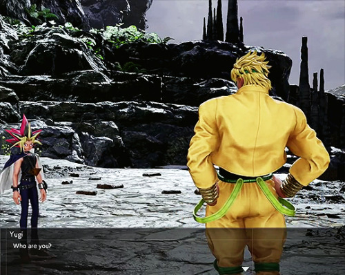 snuv: porunareff: The story mode in JUMP Force is a fever dream where you get to see DIO attempt to persuadeYugi into lending him his powers