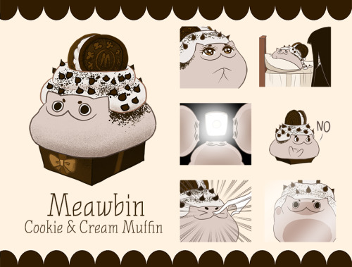 line sticker line stamp meawbin cotton valent creepy cat cookie & cream