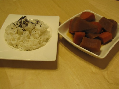 Braised Winter Squash with Furikake Rice