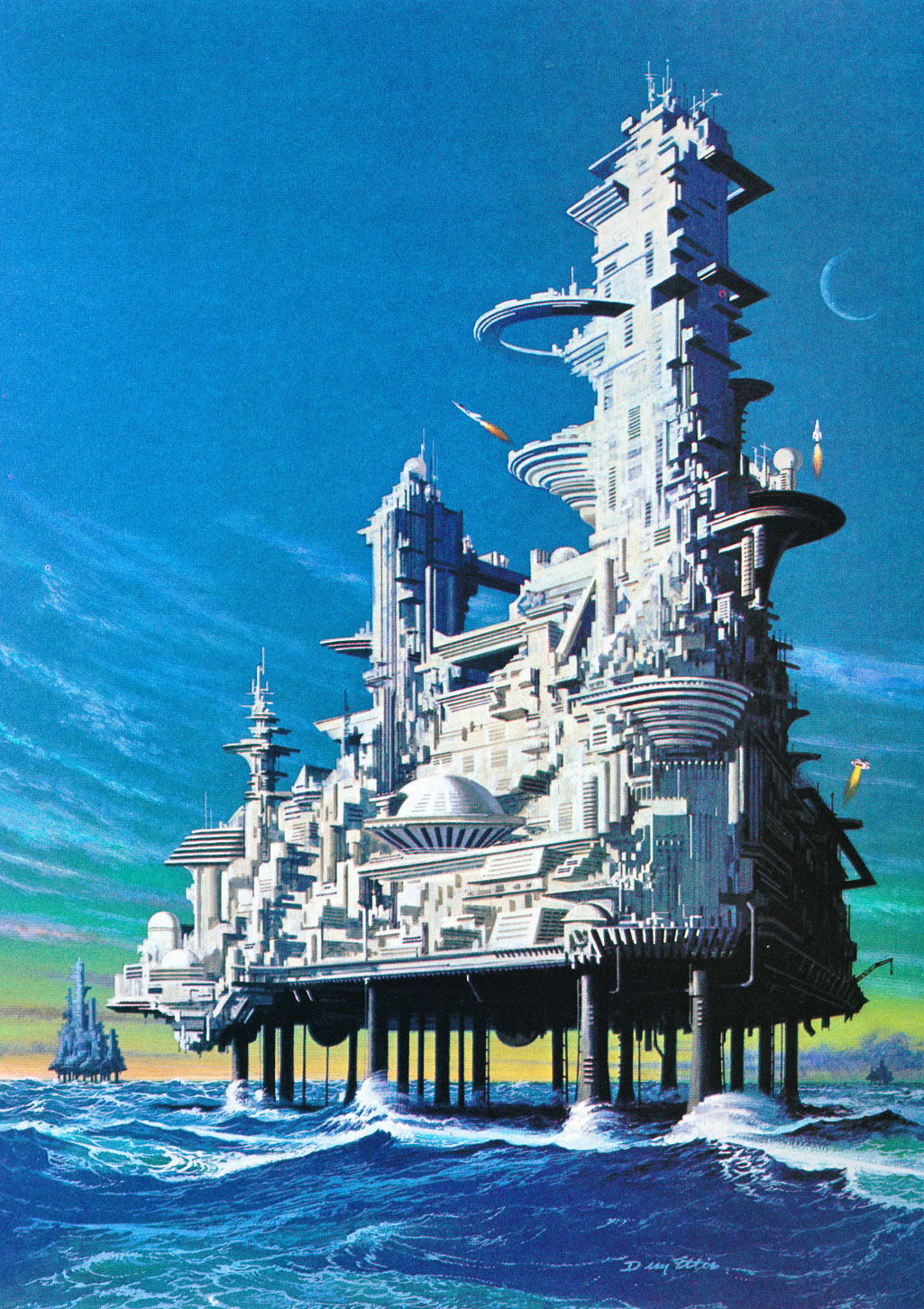 Painting by Dean Ellis Untitled (year unknown) from the book Tomorrow and Beyond: Masterpieces…