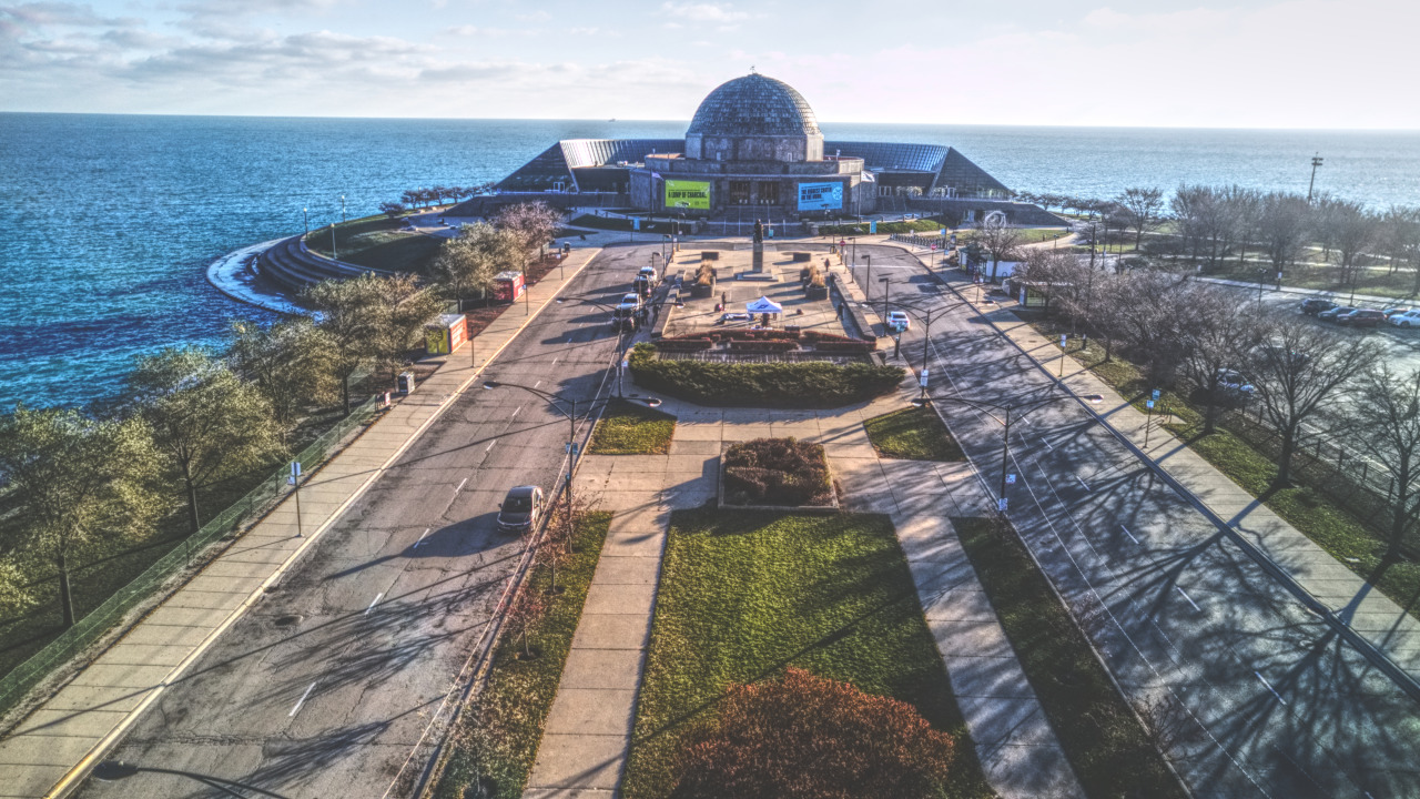 First Google Street View Tour to Near Space from Adler Planetarium with 360° GoPro Fusion Camera