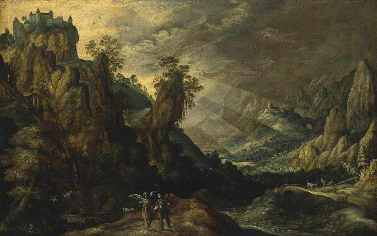 Kerstiaen De Keuninck The Elder, Landscape with Tobias and the Angel, N.d.