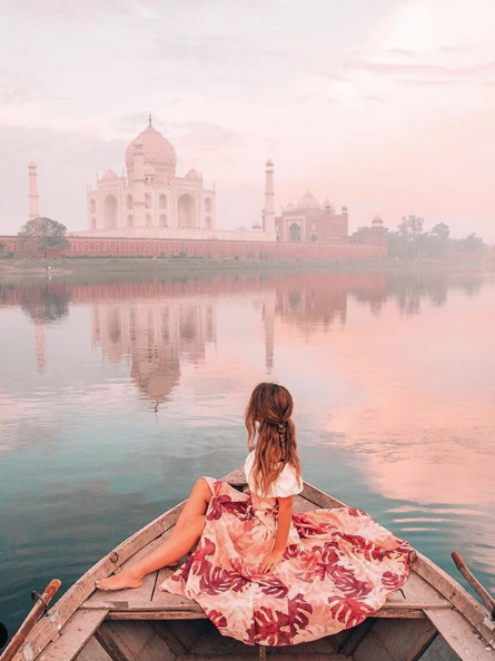 ootdgals #travel#fashion#scenery#water#landscape#photoshoot#dress#pink dress#pink#summer#dresses