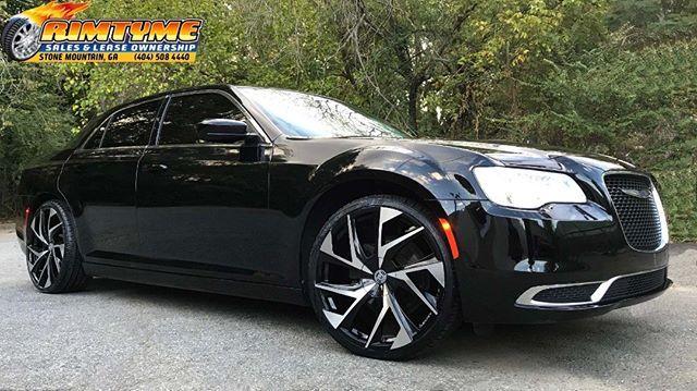 """Chrysler 300 sitting on 22"""" Lexani Ghost Black and Machined Wheels wrapped in Lexani 255-30-22 via RimTyme of Stone Mountain, GA (404) 508-4440"""