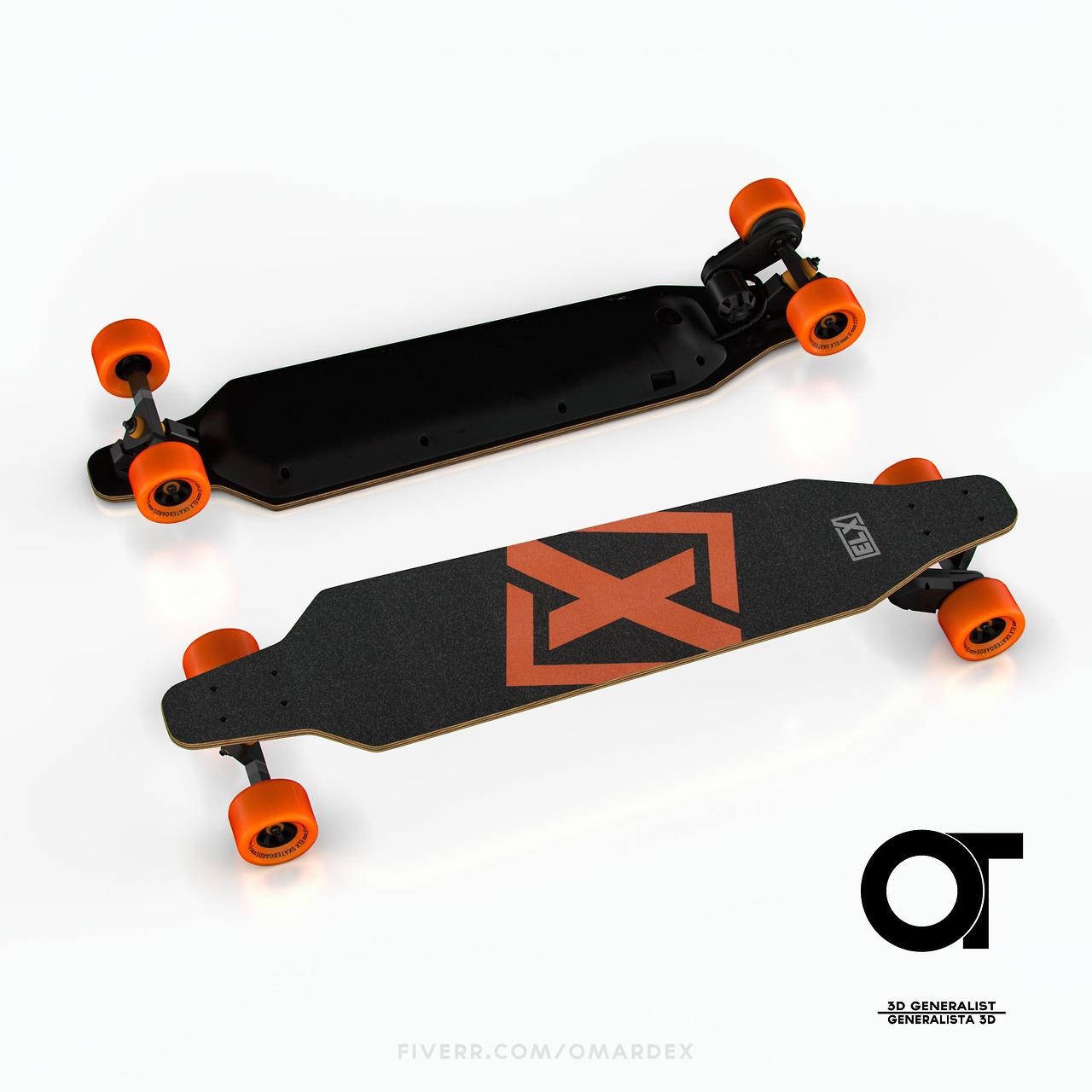 Omardex 3D \u2014 ELX electric Skateboard