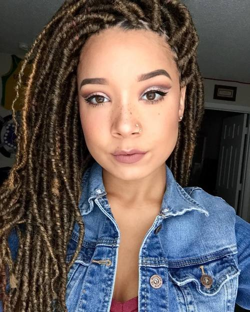Mixed Girls Instagram Kylahclarkkjt: Mixed Girl Dreads