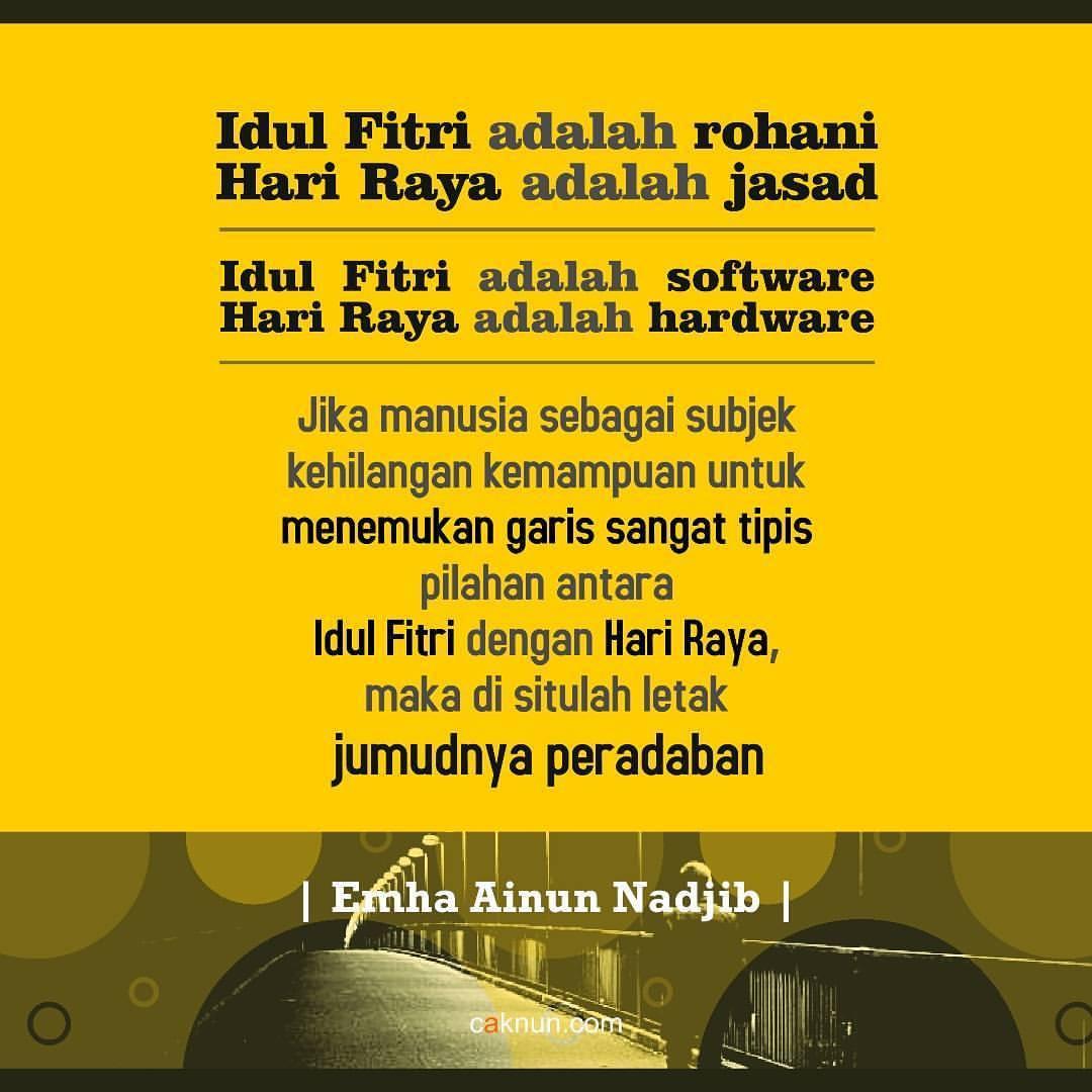 Idul Fitri Adalah Rohani. Hari Raya Adalah