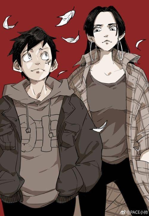 luffyxhancock fan art one piece couple modern anime manga pirates couples