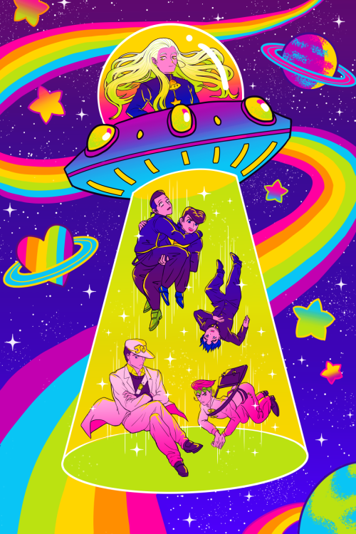 art diamond is unbreakable jojo& 039;s bizarre adventure lisa frank im gonna print this on holographic paper and have it available at anime milwaukee this month ^__^