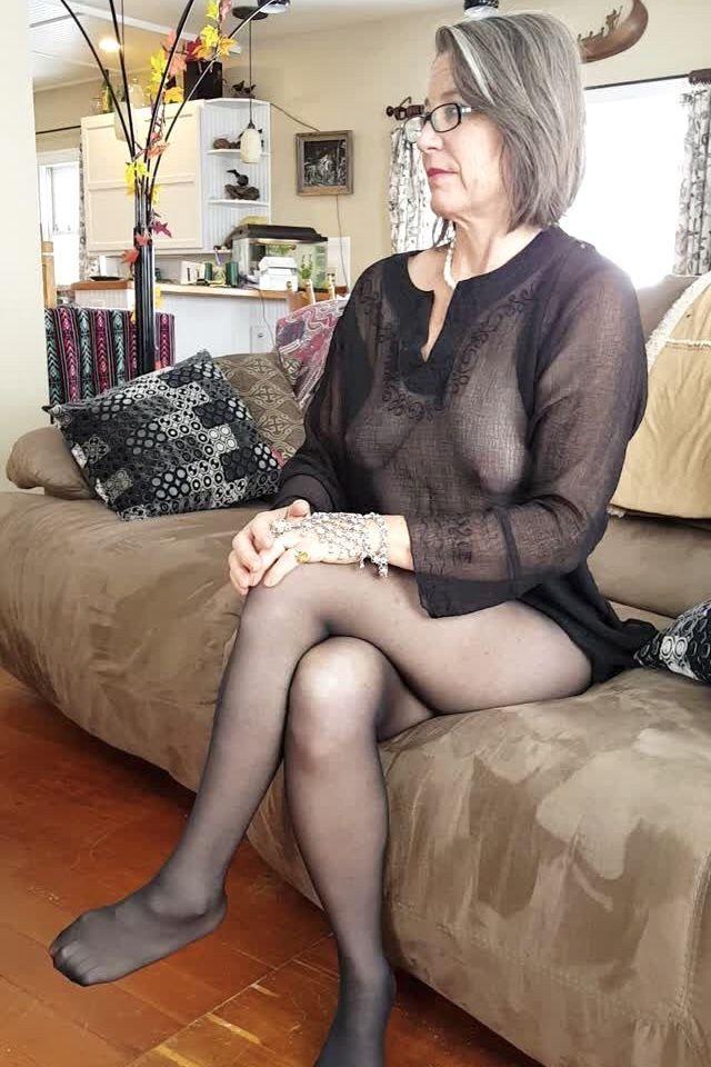 Older milf asses stockings