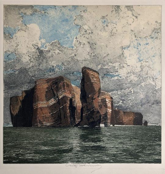 Luigi Casimir - Helgoland, color etching