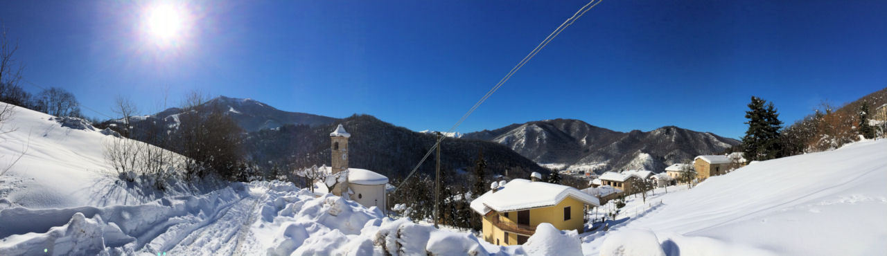 Mondagnola nella neve. Inverno 2014.©Enrico Torre