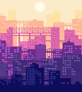 pixel art pixel city pixels digital art is this allowed to be called digital art idk mine my pixels yes this is a mood change from my previous posts just go with it ok to rb :)