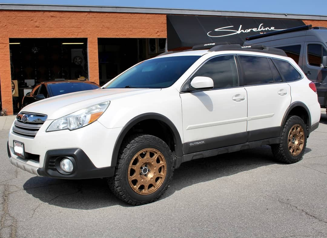 Shoreline News Wave — Subie Outback in for a @lp_aventure